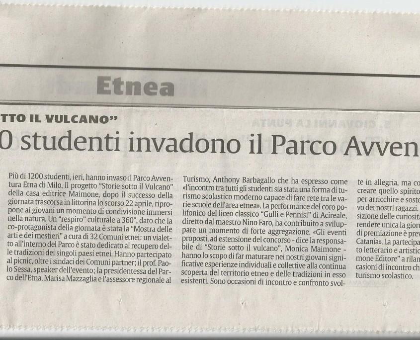 Articolo La Sicilia la sicilia